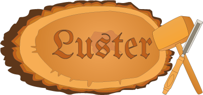 Luster sculture in legno Retina Logo